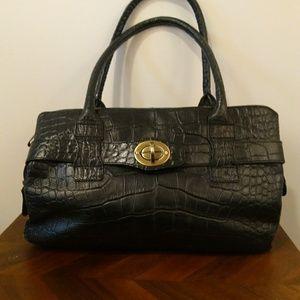 Michael Rome Designs black croc purse doctors bag